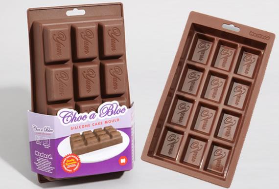 Силиконовая форма для выпекания в виде плитки шоколада