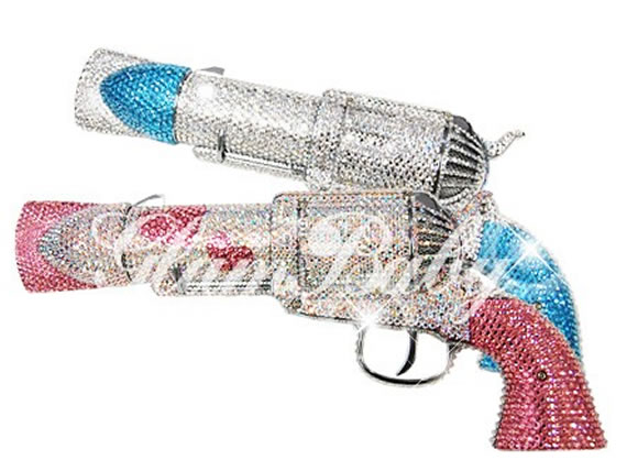 Swarovski Crystal Bling pistol hair dryer 1 Mind blowing: Swarovski Crystal Bling pistol hair dryer