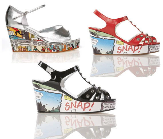 Gorgeos Comic Book Shoes Gorgeos Comic Book Shoes feature Betty and Veronica