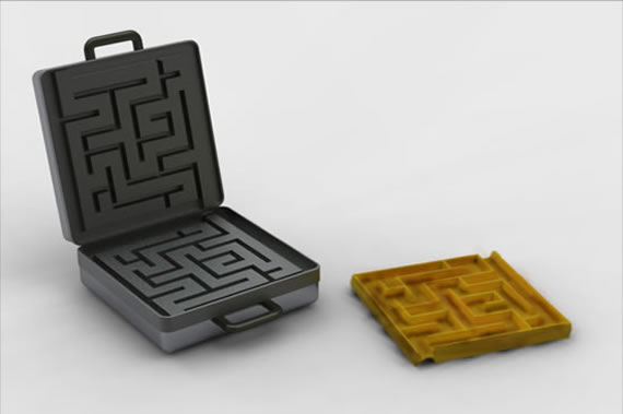 Waffle Maze Make your breakfast more playful  with waffle maze