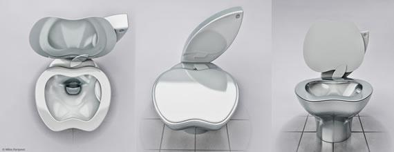 Туалет в форме Apple: оставайтесь стильным во всем, что вы делаете