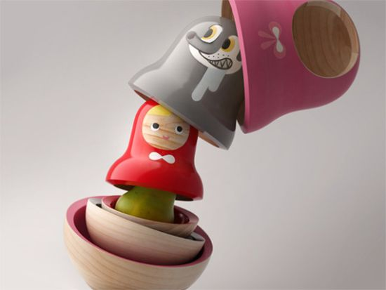 matroyaska rrd Little Red Riding Hood Matryoshka Dolls by designer Mike He