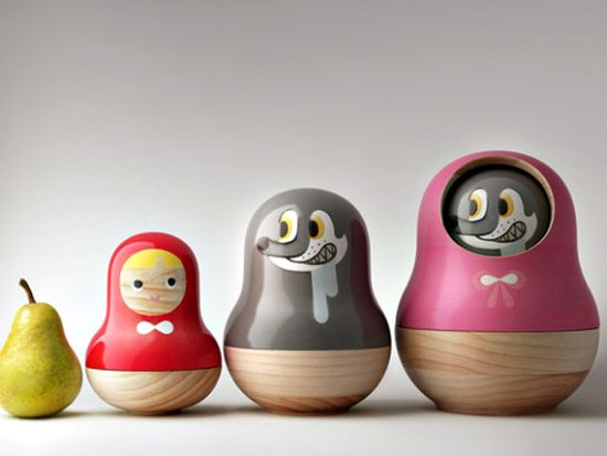 matroyaska rrd1 Little Red Riding Hood Matryoshka Dolls by designer Mike He