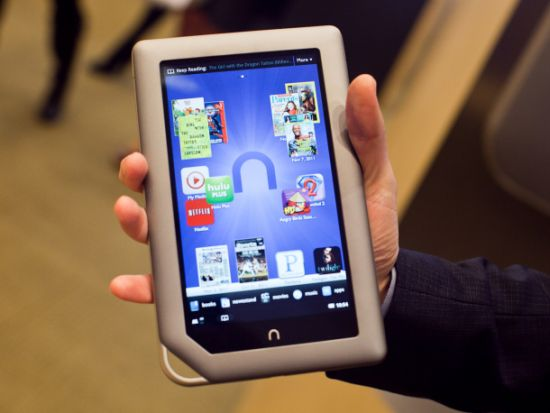 nook tablet Barnes & Noble introduces the $199 8GB Nook Tablet