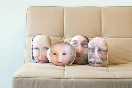 PillowMob Custom Face pillows from PillowMob: See your own face in pillow form