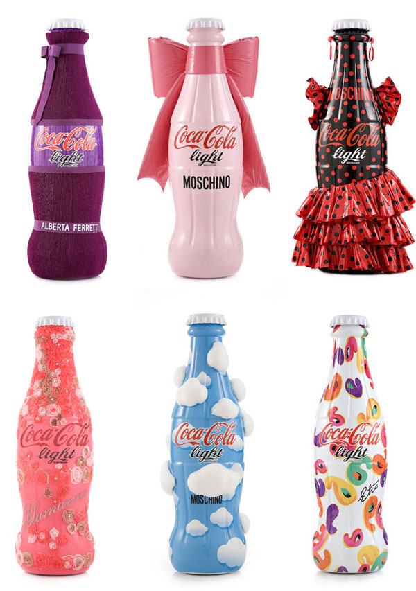 "coca cola light designer bottles tribute to fashion 2012 Coca Cola's ""Tribute to Fashion"" limited edition bottles"