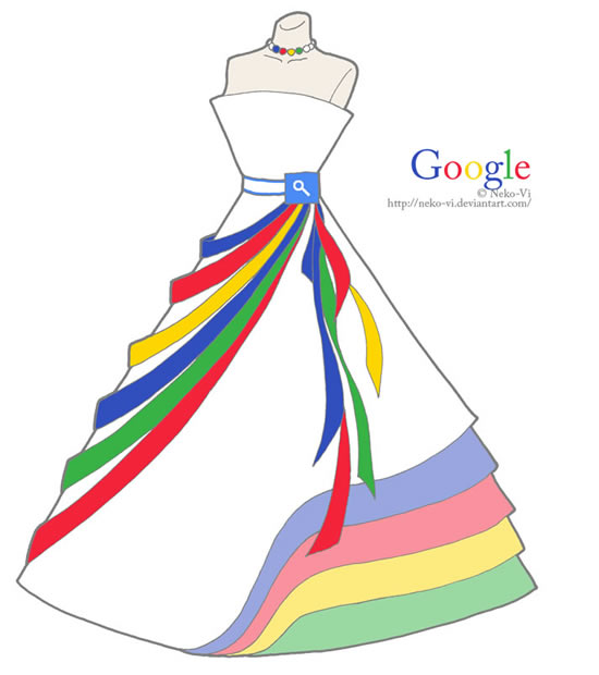 google in fashion Famous websites as dresses