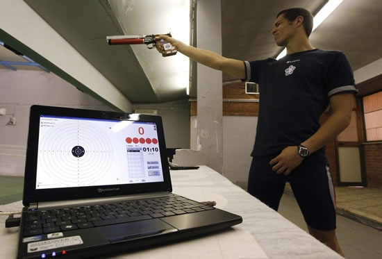 laser gun olympics Air guns to be replaced with suave Laser guns at the London Olympics