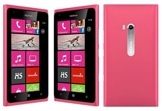 Nokia Lumia 800 в розовом цвете