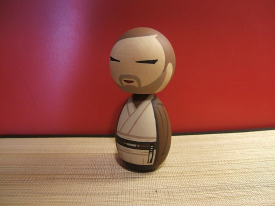 doll obivan 550x412 Star Wars inspired Kokeshi dolls make for great collectibles