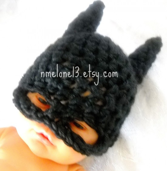 Free Crochet Pattern For Infant Batman Hat : Batman Baby Handmade Crochet Set Hat and Cocoon for your ...