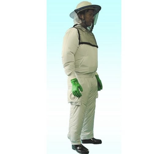 The Kuchofuku Air Conditioned Beekeeper Suit makes collecting honey a cool task