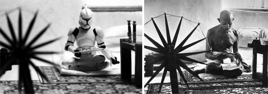 star wars 8 550x194 Artist creates Star Wars recreations of famous photographs with figurines