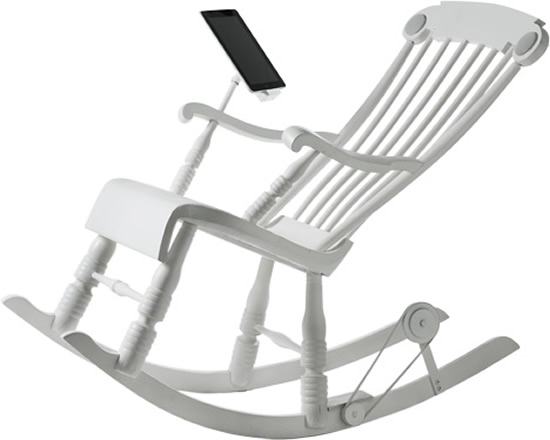 irock chair 1 The iRock: The rocking chair that also charges your iDevices