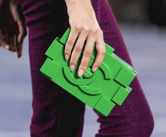 chanel lego handbag 3 550x453 Karl Lagerfeld surprises with Lego Clutches for Chanel