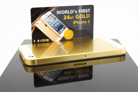 iphone5 gold 1 550x366 iPhone 5 decked with 24kt gold and Swarovski