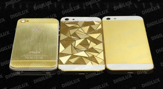 iphone5 gold 5 550x299 iPhone 5 decked with 24kt gold and Swarovski