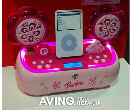 Barbie iPod dock The Barbie iPod dock is as pink as a candy