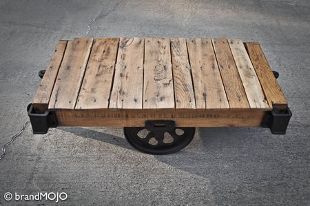 Factory Cart Coffee Table Is Vintage Expensive And Coveted Gizmodiva