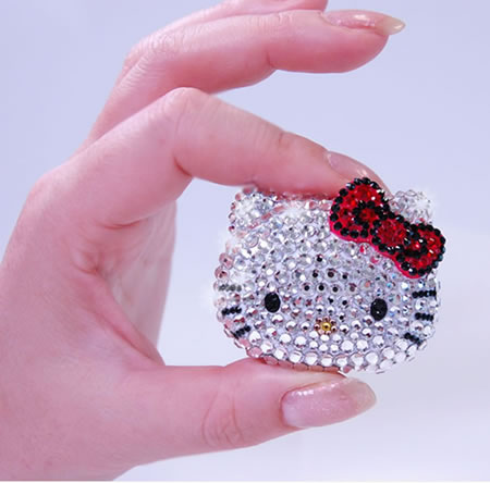 Hello Kitty Crystal music player Hello Kitty Swarovski studded music player