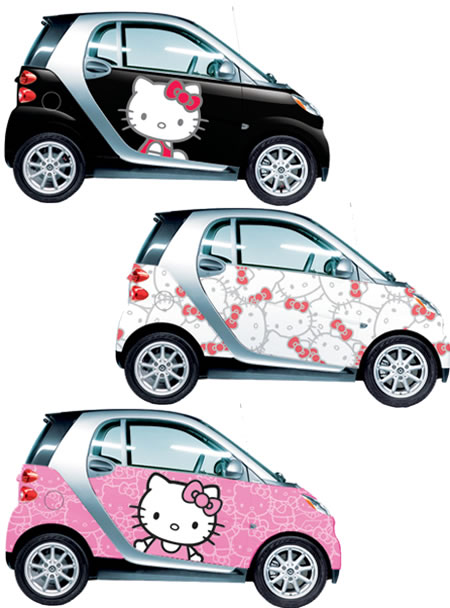 Hello Kitty Smartcars Cruise around in Hello Kitty Smartcars