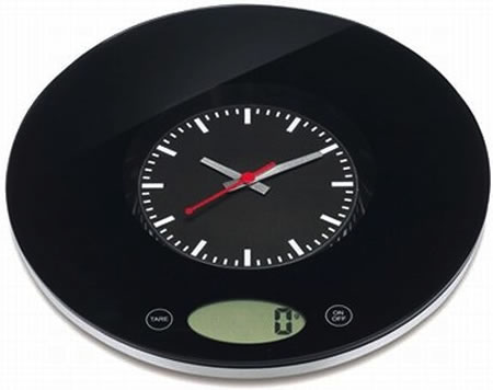Kitchen Scale Clock is stylish