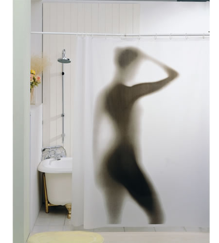 Sexy Shower Curtain, every bachelor's dream