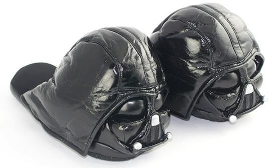 darth vader slipper 1 Star Wars Darth Vader Slipppers for those who wear the Pants