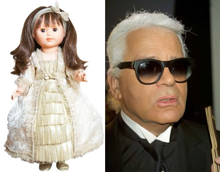 doll by Karl Lagerfeld Karl Lagerfeld crafts $315 doll for Carla Bruni Foundation!