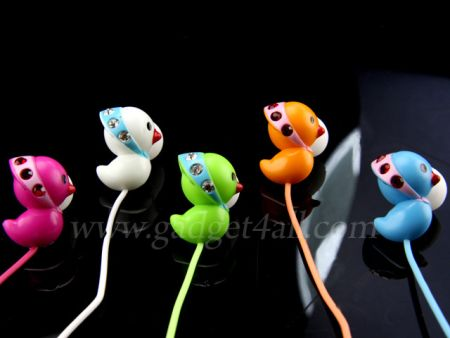 duck2 Bling Bling Duckling Earphones are super cute