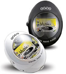 egge EGGE Music Player is elliptically shaped