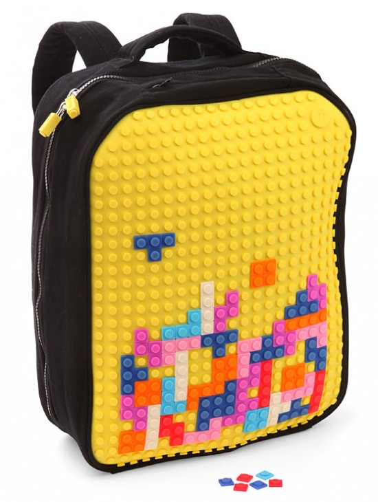 f212 uanyi pixel art backpack 550x730 Decorate your bag Tetris Style with Pixel Art