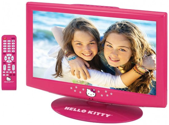 hello kitty lcd tv 550x407 Hello Kitty LCD TV is delightfully pretty