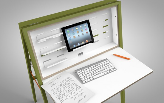 hidesk 2 550x344 HIDEsk your portable Office in your Home
