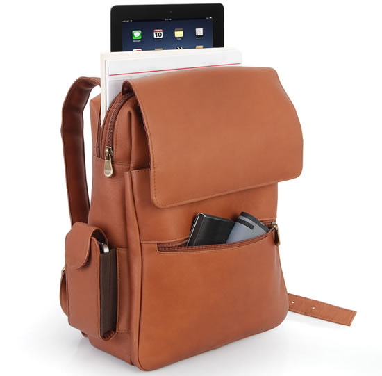 ipad leather backpack The iPad Leather Backpack: Never be separated from your iPad again