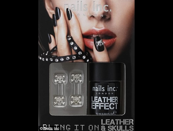 leather nails set 3 The Nails Inc Leather & Skulls nail polish kit: We can't wait!