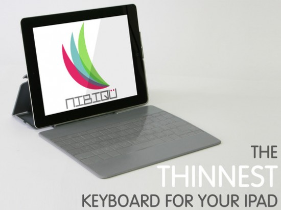 nibiqu 1 550x412 Nibiqü, the Thinnest Touch Type Style Keyboard for your iPad