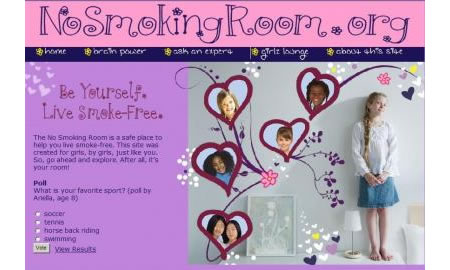 no smoking room No Smoking Room Website encourages girls to say no to smoking