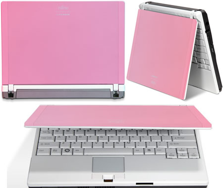 p7230  Fujitsu Limited Pink Edition LifeBook P7230 Notebook is chic