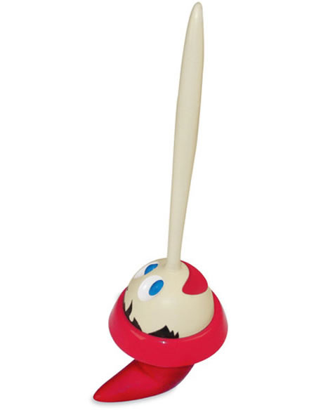 pinocchio toilet brush 2 Pinocchio Toilet Brush cleans the toilet with his head