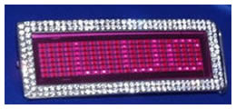 rhinestonepinkbeltbuckle111 The Rhinestone Scrolling Pink Digital Belt Buckle Adds Glitz
