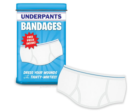 underpants bandages 1 The Underpants Bandages protect all your ouchies and boo boos