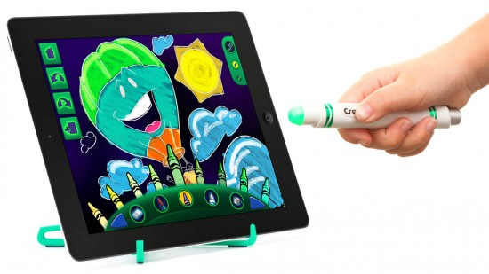 griffins glowing ipad 1 550x309 Griffin and Crayola launches contact free Light Marker for iPad