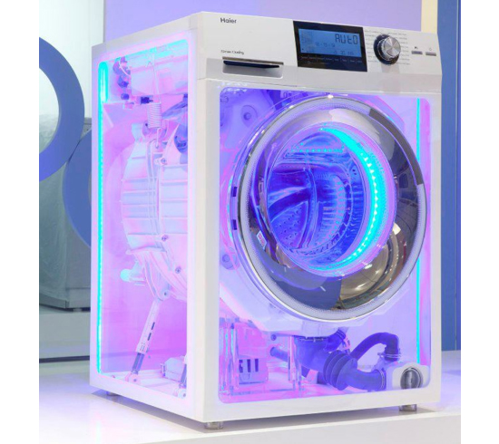 transparent washing machine Transparent Washing Machine by Haier makes Waves at CES 2013