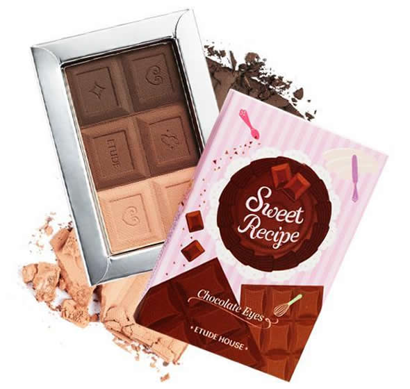 chocolate eyes Desserts inspired Etude House Sweet Recipe Makeup Collection!