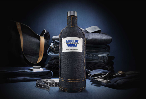 absolut denim sleeve ABSOLUT Creates Limited Edition Denim Sleeve for its Bottle