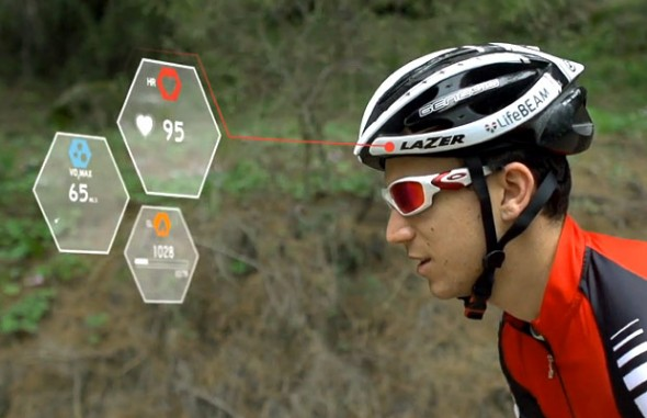 lifebeam 590x381 Lifebeam launches the world's first smart cycling helmet with a heart rate sensor