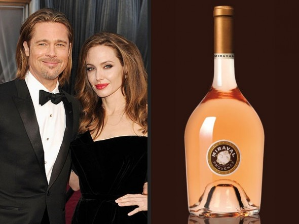 pitt jolie wine 590x442 Cheers to Brad Pitt and Angelina Jolie's Wine!